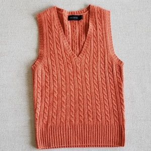 The Limited cable knit cashmere blend sweater vest